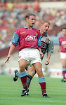Gareth Southgate of Aston Villa on his debut game - Barclays Premier League - Aston Villa v Manchester Utd - Villa Park Stadium - Birmingham - England - 19th August 1995 - Picture Sportimage