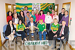 On Wednesday Jack O'Connor manager of the Minor kerry Team who arrived to Riverside House, Dan Spring Road, Tralee with the Tommy Markam Cup, to be greeted by the staff of the Kerry Education Centre, Front l-r: Ann O'Dwyer, Assumpta Nolan jack O'Connor, Martina Rohan, Marian Sugrue and Colm McEvoy (CEO). Back l-r: Sinead Geary, Edward O'Neill, Bernie Walsh, Teresa Kerins, Kevin O'Mahony, Noreen McEnery, Catherine Dineen, Norma Hickey, Helen O'Mahony, Sinead O'Sullivan, Trish Ryan, Mary O'Sullivan-Sugrue,Jame Keane and David Brick.