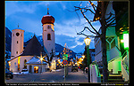Austria, St Anton.  Low Light Photography.<br /> As cameras offer higher sensitivity settings, a tripod becomes less necessary for low light photography. Here I used a tripod, but it was a lot more work, and probably not worth it.