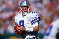 SAN FRANCISCO, CA - Quarterback Troy Aikman of the Dallas Cowboys in action during a game against the San Francisco 49ers at Candlestick Park in San Francisco, California in 1997. Photo by Brad Mangin.