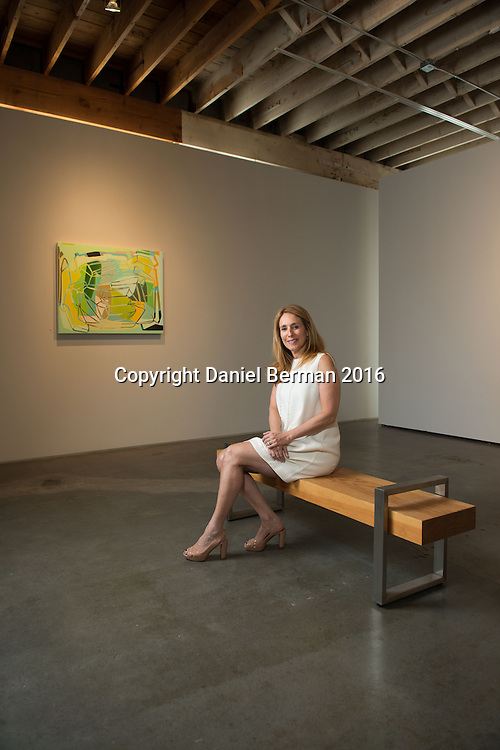 Winston Wachter Fine Art Owner Stacey Winston-Levitan, at her longtime gallery on Dexter Avenue in Seattle. Photo by Daniel Berman for Discover South Lake Union