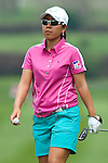 CHON BURI, THAILAND - FEBRUARY 17:  Mika Miyazato of Japan walks off the 11th green during day two of the LPGA Thailand at Siam Country Club on February 17, 2012 in Chon Buri, Thailand.  Photo by Victor Fraile / The Power of Sport Images