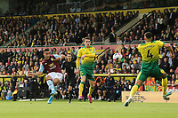 Anwar El Ghazi of Aston Villa in action shoots on goal during Norwich City vs Aston Villa, Premier League Football at Carrow Road on 5th October 2019