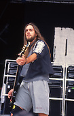 Pantera - bassist Rex Brown - performing live at the Monsters of Rock festival at Castle Donington Leicestershire UK - 04 Jun 1994.  Photo credit: George Chin/IconicPix