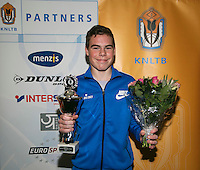 01-12-13,Netherlands, Almere,  National Tennis Center, Tennis, Winter Youth Circuit, Boys 16 years , winner Patric Speelman<br /> Photo: Henk Koster