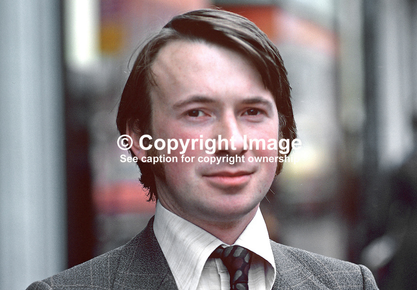 Jeremy Burchill, Belfast, N Ireland, barrister, chairman, Ulster Young Unionists, 197810000298JB.<br />