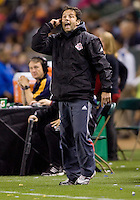 Toronto FC head coach Preki barks out directions to his team. The LA Galaxy and Toronto FC played to a 0-0 draw at Home Depot Center stadium in Carson, California on Saturday May 15, 2010.  .