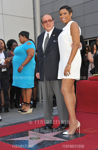 Jennifer Hudson &amp; music mogul Clive Davis on Hollywood Boulevard where she was honored with the 2,512th star on the Hollywood Walk of Fame.<br /> November 13, 2013  Los Angeles, CA<br /> Picture: Paul Smith / Featureflash