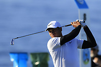 Julian Suri (USA) tees off the 8th tee during Sunday's Final Round of the 2018 AT&amp;T Pebble Beach Pro-Am, held on Pebble Beach Golf Course, Monterey,  California, USA. 11th February 2018.<br /> Picture: Eoin Clarke | Golffile<br /> <br /> <br /> All photos usage must carry mandatory copyright credit (&copy; Golffile | Eoin Clarke)
