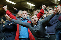 Swansea City fans in action during the Sky Bet Championship match between Charlton Athletic and Swansea City at The Valley, London, England, UK. Wednesday 02 October 2019