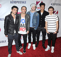 NEW YORK, NY - DECEMBER 07: Tom Parker, Max George, Jay McGuiness, Siva Kaneswaran, and Nathan Sykes of The Wanted at Z100's Jingle Ball 2012, presented by Aeropostale, at Madison Square Garden on December 7, 2012 in New York City. NortePhoto