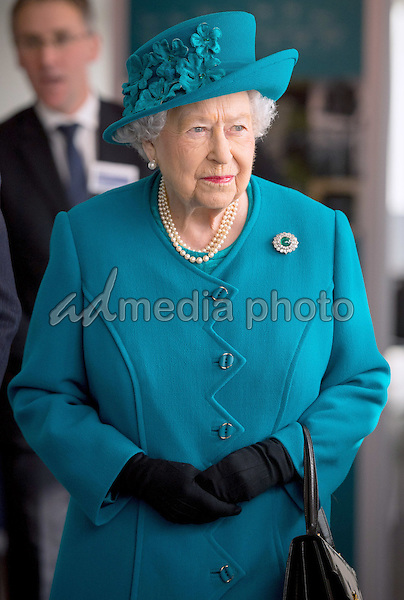 14 February 2017 - London, England - Queen Elizabeth II attends the official opening of the National Cyber Security Centre (NCSC) in London. Photo Credit: ALPR/AdMedia