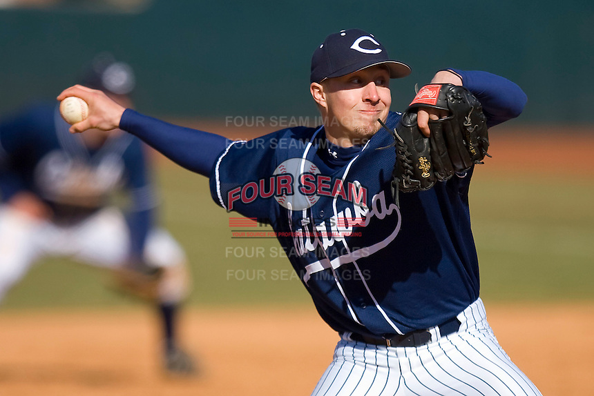 Corey Norman #38 of the Catawba Indians in action versus the Shippensburg Red Raiders on February 14, 2010 in Salisbury, North Carolina.  Photo by Brian Westerholt / Four Seam Images