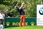 Victor Dubuisson (FRA) tees off on the 3rd tee during Day 3 of the BMW Italian Open at Royal Park I Roveri, Turin, Italy, 11th June 2011 (Photo Eoin Clarke/Golffile 2011)