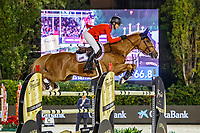 USA-Eve Jobs rides Venue d'Fees des Hazalles during the Challenge Cup: 2019 CSIO Barcelona - Longines FEI Nations Cup Jumping Final. Reial Club de Polo de Barcelona. Spain. Saturday 5 October. Copyright Photo: Libby Law Photography