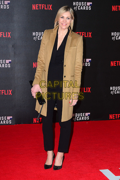 LONDON, UK: FEB 26: Jenni Falconer at the House Of Cards premiere of third series of Netflix's critically-acclaimed political drama based on the British book and 1990s TV series. London, England, February 26th, 2015.<br />  CAP/JOR<br /> &copy;Nils Jorgensen/Capital Pictures