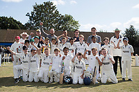 The junior teams with some of the Essex players during Upminster CC vs Essex CCC, Benefit Match Cricket at Upminster Park on 8th September 2019