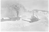 Rotary snowplow OM working in snow at Cumbres.<br /> D&amp;RG  Cumbres, CO