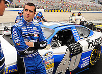 May 31, 2008; Dover, DE, USA; Nascar Nationwide Series driver Dario Franchitti during the Heluva Good 200 at the Dover International Speedway. Mandatory Credit: Mark J. Rebilas-
