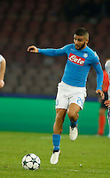 Lorenzo Insigne during the Champions League Group  soccer match between SSC Napoli and   Dinamo Kiev  at the San Paolo  Stadium inNaples November 24, 2016