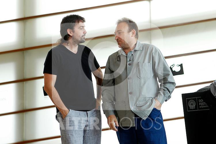 Spanish artist Miquel Barcelo (R) and Spanish director Isaki Lacuesta (L) during the 59th San Sebastian Donostia International Film Festival - Zinemaldia.September 19,2011.(ALTERPHOTOS/ALFAQUI/Acero)