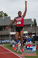 Southeast Missouri junior Reginald MIller Jr jumps his way to a 17th place finish in the triple jump with a best mark of 5.66m/51-1.5 at the 2014 NCAA Division I Outdoor Track & Field Championships, in Eugene, Or.