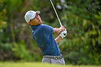 Lloyd Jefferson GO (PHI) watches his tee shot on 7 during Rd 4 of the Asia-Pacific Amateur Championship, Sentosa Golf Club, Singapore. 10/7/2018.<br /> Picture: Golffile | Ken Murray<br /> <br /> <br /> All photo usage must carry mandatory copyright credit (&copy; Golffile | Ken Murray)