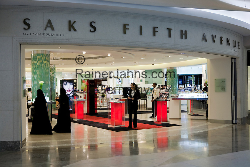 United Arab Emirates, Dubai: BurJuman shopping Mall. Front of exclusive department store