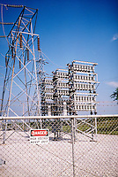ELECTRIC POWER SUBSTATION<br /> Electrical Sub-station<br /> At the substation the voltage may be transformed from levels of 69,000 to 138,000 V for further transfer on the subtransmission system.