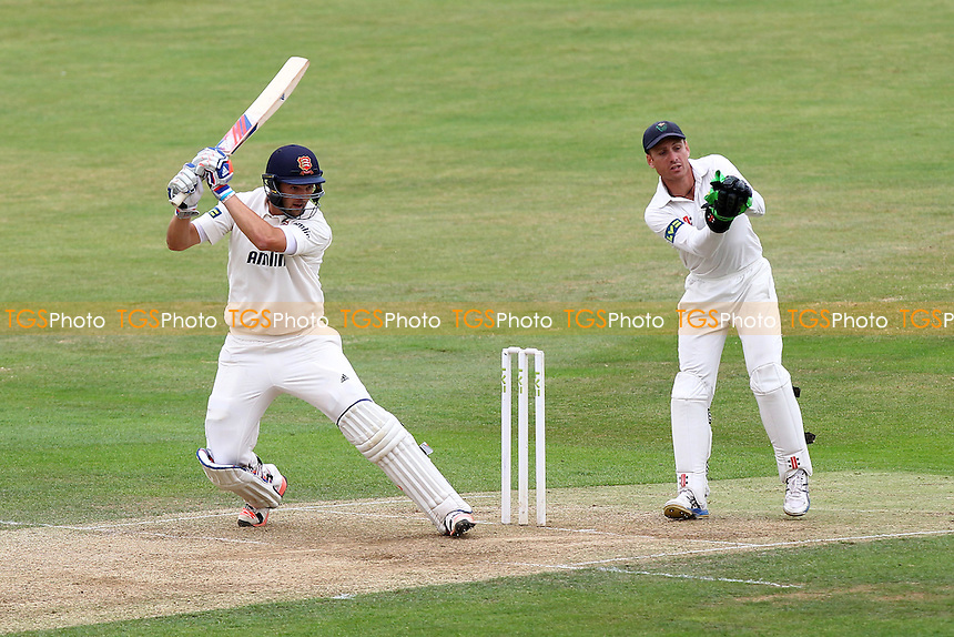Nick Browne hits out for Essex as Mark Wallace looks on - Essex CCC vs Glamorgan CCC - LV County Championship Cricket at the Essex County Ground, Chelmsford, Essex - 14/07/15 - MANDATORY CREDIT: Gavin Ellis/TGSPHOTO