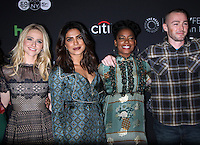NEW YORK, NY-October 17:Johanna Braddy,Priyanka Chopra, Aunjanue Ellis, Jake McLaughlin at PaleyFest New York presents Quantico at the Paley Center for Media in New York.October 17, 2016. Credit:RW/MediaPunch