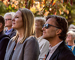 October 26, 2017. Raleigh, North Carolina.<br /> <br /> Audubon North Carolina Executive Director Heather Hahn and John Rowden, Director of Community Conservation for the National Audubon Society.<br /> <br /> A new garden designed by Ben Skelton containing native Plants For Birds was dedicated at the North Carolina Executive Mansion.