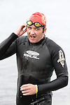 Joe Leahy finishes at the Green Buoy 1KM Swim in Clogherhead...(Photo credit should read Jenny Matthews/NEWSFILE)...