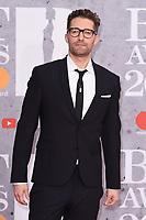 Matthew Morrison<br /> arriving for the BRIT Awards 2019 at the O2 Arena, London<br /> <br /> ©Ash Knotek  D3482  20/02/2019<br /> <br /> *images for editorial use only*
