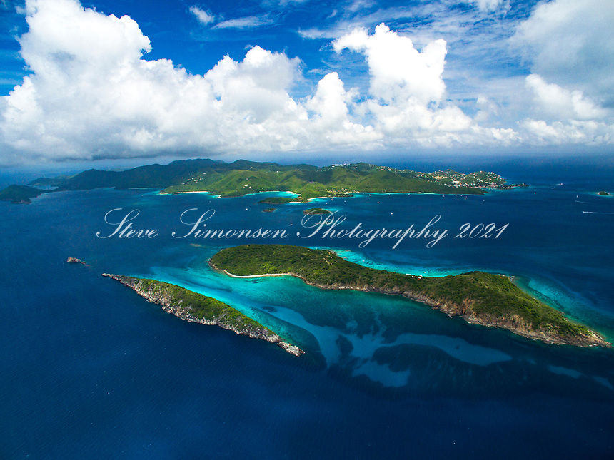 Congo and Lovango Cays with St. John in the distance<br />