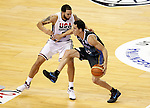 USA's Deron Williams (l) and Argentina's Pablo Prigioni during friendly match.July 22,2012. (ALTERPHOTOS/Acero)