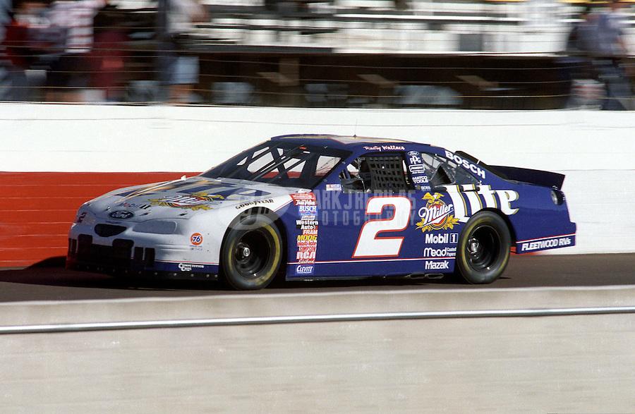 Nov. 1, 1997; Avondale, AZ, USA; NASCAR Winston Cup Series driver Rusty Wallace at Phoenix International Raceway. Mandatory Credit: Mark J. Rebilas-