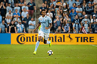 Kansas City, KS - Wednesday August 9, 2017: Saad Abdul-Salaam during a Lamar Hunt U.S. Open Cup Semifinal match between Sporting Kansas City and the San Jose Earthquakes at Children's Mercy Park.