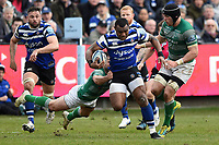 Semesa Rokoduguni of Bath Rugby takes on the Newcastle Falcons defence. Gallagher Premiership match, between Bath Rugby and Newcastle Falcons on February 16, 2019 at the Recreation Ground in Bath, England. Photo by: Patrick Khachfe / Onside Images