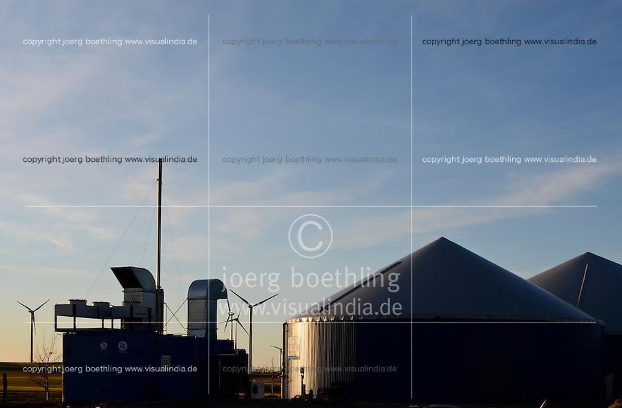 GERMANY Biogas plant at cow milk farm / DEUTSCHLAND Biogasanlage auf einem Hof in Mecklenburg-Vorpommern
