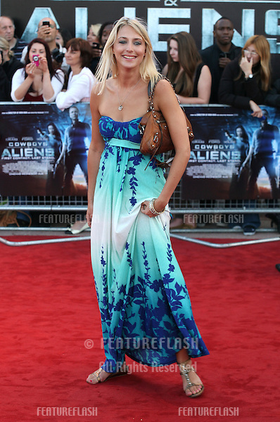 Ali Bastian arriving for the UK premiere of 'Cowboys & Aliens' at the O2, London. 11/08/2011  Picture by: Alexandra Glen / Featureflash