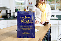 {November 7, 2009} 11:25:54 AM -- Fredericksburg, VA. -- Jody Williams, a Nobel Peace prize winner for her work in eradicating land mines, left, has pulled together a cookbook with recipes from other Nobel laureates and people who have worked for peace. She did the work in combination with her stepdaughter Emily Goose, right, as part of Emily's high school senior project.  ... -- ...Photo by Andrew B. Shurtleff, Freelance.
