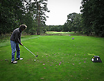 HILVERSUM - Hole 8. tee. afslaan, Hilversumsche Golf Club. COPYRIGHT KOEN SUYK