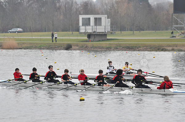 452 GtMarlowSch J13A.8x+..Marlow Regatta Committee Thames Valley Trial Head. 1900m at Dorney Lake/Eton College Rowing Centre, Dorney, Buckinghamshire. Sunday 29 January 2012. Run over three divisions.