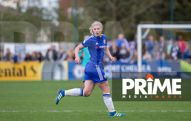 Bethany England of Chelsea Ladies during the Women's FA Cup Semi Final match between Chelsea Ladies and Manchester City Women at Wheatsheaf Park, Staines, England on 17 April 2016. Photo by Andy Rowland.