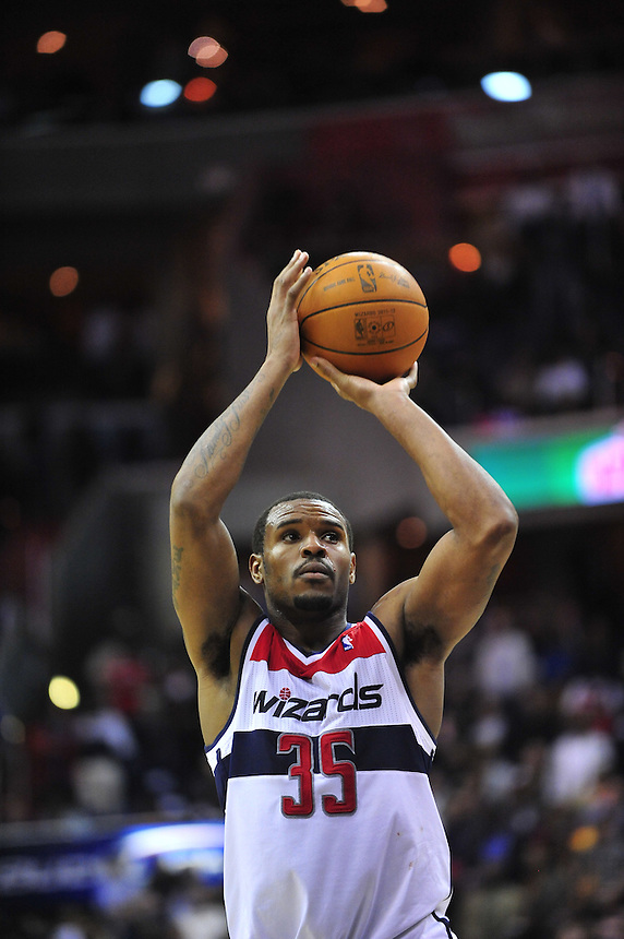 Trevor Booker lead the Wizards with 18 points and 17 rebounds. Washington defeated Los Angeles 106-101 at the Verizon Center in Washington, D.C. on Wednesday, March 7, 2012. Alan P. Santos/DC Sports Box