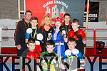 Members of Sliabh Luachra Boxing Club front l-r Paul BrownAnthony kelliher, Jordan Coffey, middle l-r , Barry O'Connor, Saoirse Kelly, John O'Brien, Back John O'Connell, Jennifer O'Sullivan Coffey, Paul Griffin Pictured at the NEKD building in Castleisland on Monday