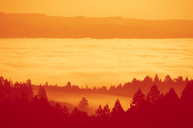 Sunrise on Napa Valley as seen from Spring Mountain