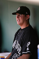 Eric Surkamp of the San Jose Giants during game against the Inland Empire 66'ers at Arrowhead Credit Union Park in San Bernardino,California on August 1, 2010. Photo by Larry Goren/Four Seam Images