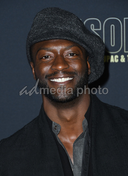 "22 February 2018 - Hollywood, California - Aldis Hodge. USA Network's ""Unsolved: The Murders of Tupac & The Notorious B.I.G."" held at Avalon Hollywood. Photo Credit: Birdie Thompson/AdMedia"